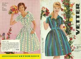 """Mannheim 1959 8-s Deko Produktkatalog """" Vetter Großversandhaus Sommermode """" Reklame Werbung A5 - Publicités"""