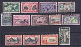 NEW ZEALAND 1939, SG# 613-625, CV £70, Ships, MH - Ongebruikt