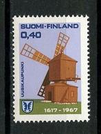 FINLANDE 1967 N° 592 ** Neuf MNH Superbe C 1.25 € Moulin à Vent Wind House Usikaupunki - Nuovi
