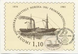 FINLANDIA - MAXIMUM CARD  1981 - NORDIA 1981 - SPECIAL CANCEL - Cartoline Maximum