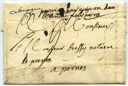 Marque Manuscrite Langogne / LàC 1779 Marie Louise De Beaumont, épouse De François De Capellis, Mère Du Contre-amiral. - 1701-1800: Precursori XVIII