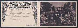 Christmas Stationary Postcard With Additional Stamp. Christmas Music. Viola. Guitar. Painting By Gregório Lopes. Évora. - Music