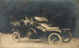 RPPC CARTE PHOTO PEUGEOT 1910/11 PHOTO DELESTANG BEDARIEUX LAMALOU LES BAINS  CAR COCHES Bryan Goodman Collection - Autres