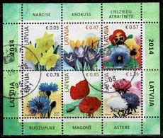 Lettland 2014,Michel# Block 34 O Flowers - Lettland