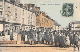 PERIERS (50) -  Place Du Marché (carte Toilée) - Andere Gemeenten