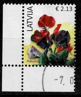 Lettland 2015,Michel# 901 II, 933 I O Flowers - Lettland