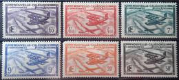 R2062/535 - 1938/1940 - COLONIES FR. - Nelle CALEDONIE - POSTE AERIENNE - SERIE COMPLETE - N°29 à 34 NEUFS* - Unused Stamps