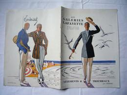 Catalogue Pub 1930 Galeries Lafayette Vêtements Et Trousseaux Pour Hommes Environ 40 Pages - Pubblicitari