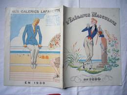 Catalogue Pub 1930 L'élégance Masculine Galeries Lafayette Vêtements Pour Hommes 24 Pages - Pubblicitari