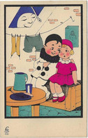 5 CARTES SERIE LEO 102 PIERROT LUNE AMOURETTE PETITE FILLE  JOLI PLAN - 1900-1949