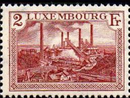 Ausstellung Düdelingen 1937 Luxemburg 302 Aus Block 2 ** 6€ Stahlwerk Hütte Esch Bloc M/s Philatelic Sheet Of Luxembourg - Unused Stamps