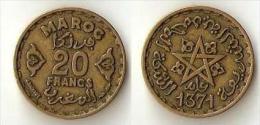 Morocco 20 Francs 1371 - Morocco