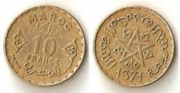 Morocco  10 Francs  1952 - Morocco