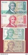 Croatie  7 Billets ---UNC-- - Croatia
