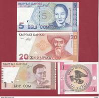 Kirghizistan  4 Billets ---UNC-- - Kyrgyzstan