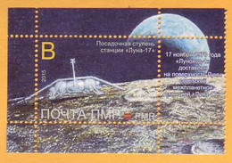 2015 2016 Moldova Moldavie Transnistria   45 Years  Lunokhod. Space Station. Space. Moon. Tiraspol 1v**. - Moldova