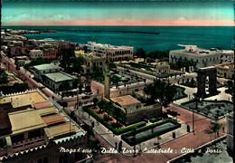39803) CARTOLINA DI SOMALIA-MOGADISCIO-DALLA TORRE CATTEDRALE-CITTò E PORTO-VIAGGIATA - Somalië