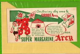 Buvard & Blotting Paper : Super Margarine CIRQUE ARCY  Clown - Dairy