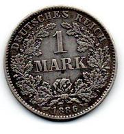 Allemagne -  1 Mark 1886 D TTB+ - 1 Mark