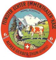ETIQU. ALFRED GERBER THUN 6 Portions Suisse - Kaas