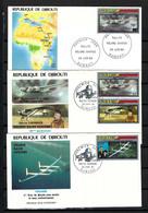 """DJIBOUTI 1987: Lot De 3x FDC """"les Avions"""" - Djibouti (1977-...)"""