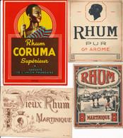 4 étiquettes Anciennes & Différentes De RHUM (BP) - Rhum