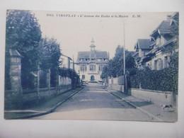 VIROFLAY L'Avenue Des Ecoles Et La Mairie - CPA Sépia Bleuté 78 YVELINES - Viroflay