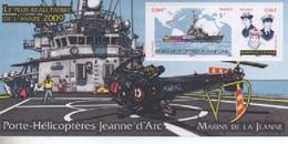 BLOC SOUVENIR   PORTE HELICOPTERES JEANNE D ARC   N° YVERT ET TELLIER   46  NEUF SANS CHARNIERE - Foglietti Commemorativi