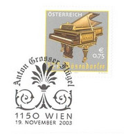 124  Bösendorfer Piano: Env. Premier Jour D'Autriche, 2003 - Vienna Piano Manufacturer FDC From Austria - Music