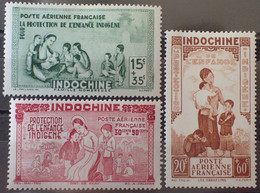 R2062/693 - 1942 - COLONIES FR. - INDOCHINE - POSTE AERIENNE -  SERIE COMPLETE - N°20 à 22 NEUFS* - Airmail