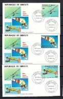 """DJIBOUTI 1987: 3x FDC """"les Avions"""" - Djibouti (1977-...)"""