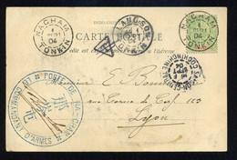 """Grand Cachet """"POSTE DE NA-CHAM; LE COMMANDANT D'ARMES"""" Avec Sa Signature., Rare. - Covers & Documents"""