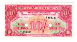 Great Britain Militar Payment Banknote 10 Shilling UNC Cancelled Nice - Unclassified