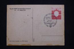POLOGNE / ALLEMAGNE - Oblitération Temporaire De Krakau En 1943 Sur Carte Patriotique  - L 95887 - Governo Generale
