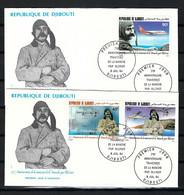 """DJIBOUTI 1987: Lot De 2x FDC """"les Avions"""" - Djibouti (1977-...)"""