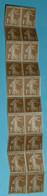 Rare Bloc De Timbres Neufs, Semeuse De Roty Bistre Brun, 1 C Centime De Franc, République Française, France Postes - Mint/Hinged
