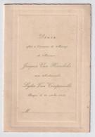 BRUGGE 10 OCT 1936 MARIAGE   J.VAN HOOREBEKE AVEC LYDIE VAN COMPERNOLLE  ZIE SCANS - Menus