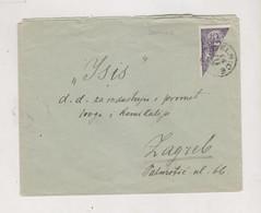 SLOVENIA, SHS  CROATIA 1920 DELNICE Nice Cover To ZAGREB Bisectet Stamp Certificat Petric - Slovenia
