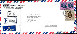Hong Kong  L.  Rec + A.R.  TP 306 (x 2) + 310 (Yang)  Tsim Sha Tsui Hong Kong > Montréal  Canada 13/5/86   Pli - Briefe U. Dokumente
