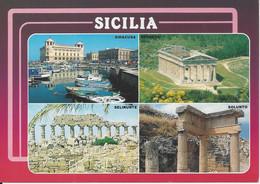 CPM Italie Souvenir Di Sicilia Vue Multiple 4 Vues - Andere Steden