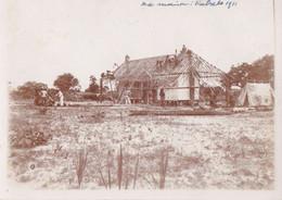 """Photo De Particulier Afrique Congo Belge 1911 Province Tanganyika Kabalo """" Constrution D'une Maison """"   Réf 4464 - Africa"""