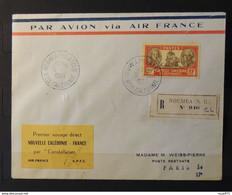 04 - 21  // Nouvelle Calédonie N°161 Sur Lettre - 1er Voyage Par Constellation // N°161 Seul Sur Lettre Cote : 200 Euros - Covers & Documents