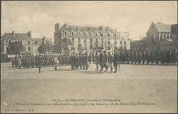 CPA - SAINT-BRIEUC Pendant La Guerre - Prise D'Armes Pour Décoration De Croix De Guerre Et De Médailles Militaires - Saint-Brieuc