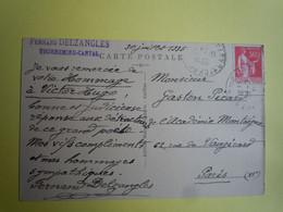 Autographe Fernand DELZANGLES (1871-1944) POETE à Gaston PICARD - CANTAL - TOURNEMIRE - Autographs