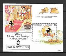 Disney St Vincent Gr 1992 Tales Of Ungle Scrooge - Hop O'my Thumb #2 MS MNH - Disney
