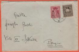 ITALIA - Colonie - Rodi - 1937 - 5c + 10c - Viaggiata Da Rodi Per Perugia - Ägäis
