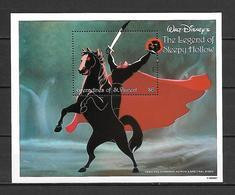 Disney St Vincent Gr 1992 The Legend Of Sleepy Hollow MS #2 MNH - Disney