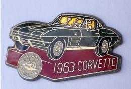 V455 Pin's CORVETTE VERTE 1963 CHEVROLET Chevrolet, General Motors  Achat Immédiat - Corvette