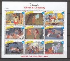 Disney St Vincent Gr 1992 Oliver & Company Sheetlet MNH - Disney