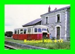 AL 451 - Autorail Billard X 244 En Gare - ARGY - Indre - BA - Stations With Trains